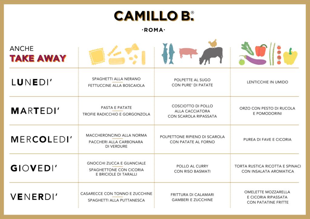 Menu Camillo B.
